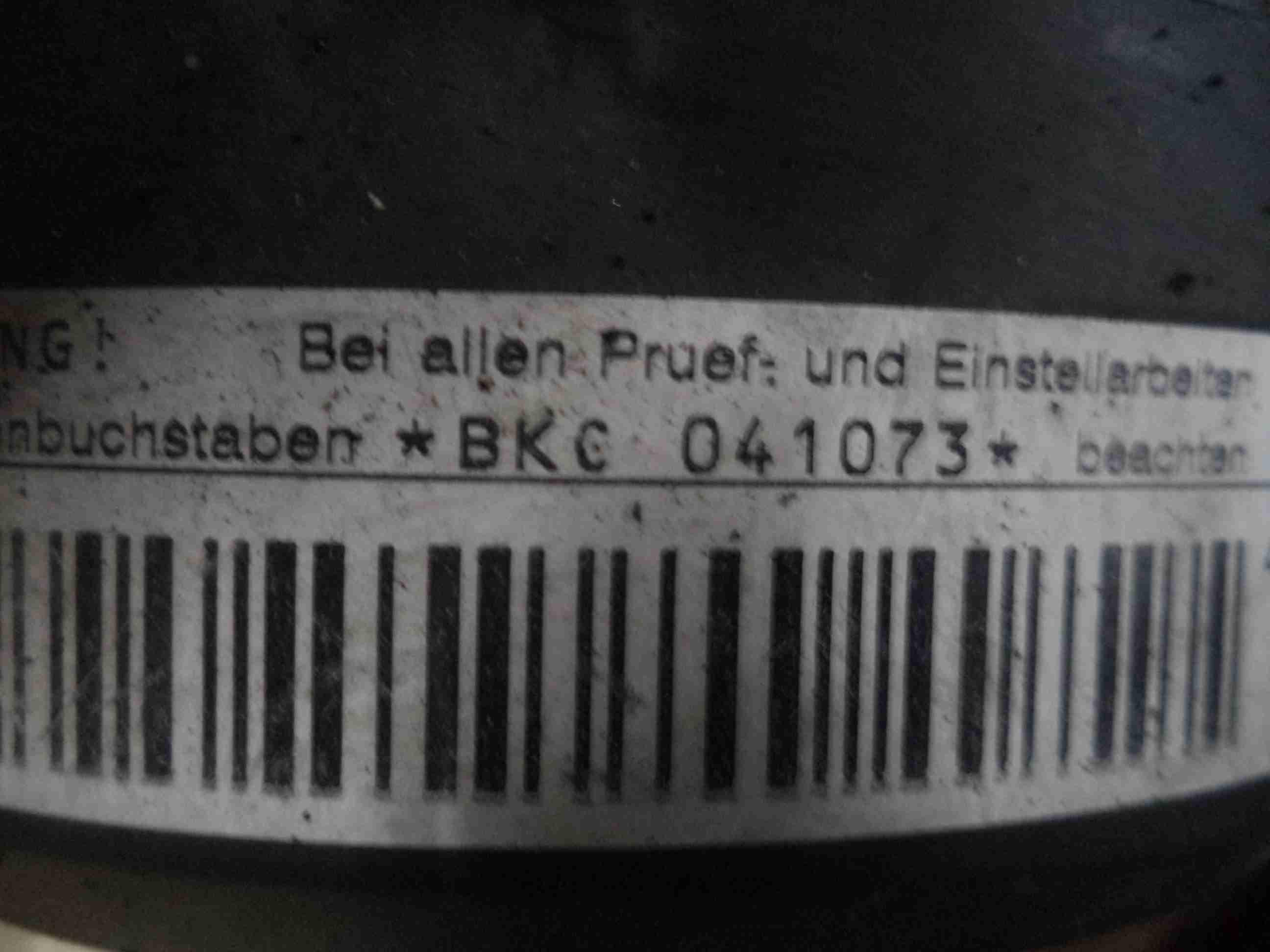Двигатель BKC  Первой комплектности Audi A3 II (8P) 2003 - 2013 1.9TDI