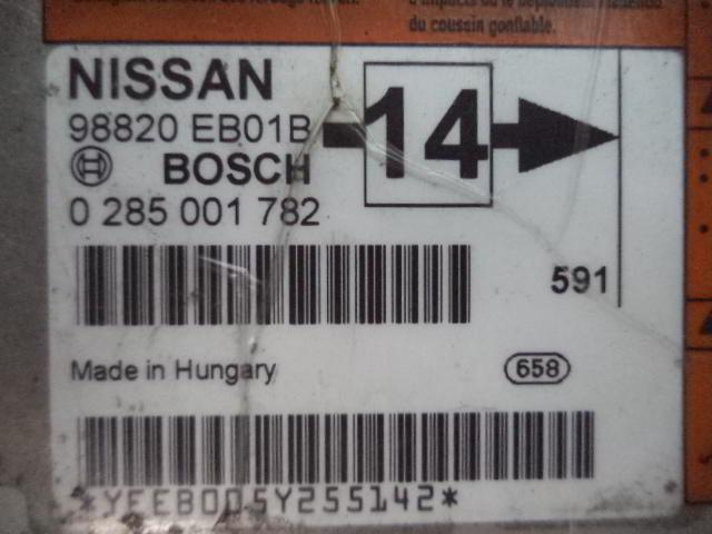 Блок управления подушек безопасности 98820EB01B  0285001782 Nissan Navara (D40) 2004 - 2015 2.5dCi