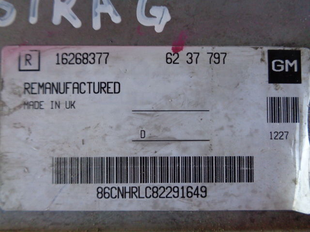 Блок управления ДВС 6237797  16268377 Opel Astra G 1998 - 2009 1.6i