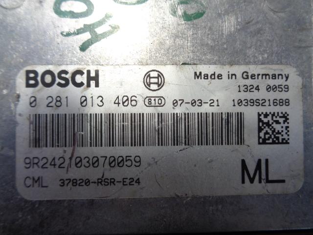 Блок управления ДВС 37820RSRE24  0281013406 Honda Civic VIII 2005 - 2012 2.2CDTi