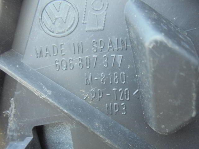 Бампер задний 6Q6807377   Volkswagen Polo IV (9A,9N) 2002 - 2009 1.6i