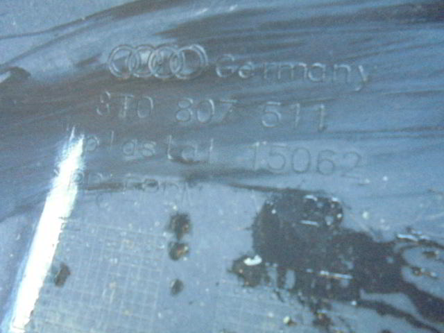 Бампер задний 8T0807511  Под парктроники Audi A5 (8T) 2007 - 2017 2.0TFSI