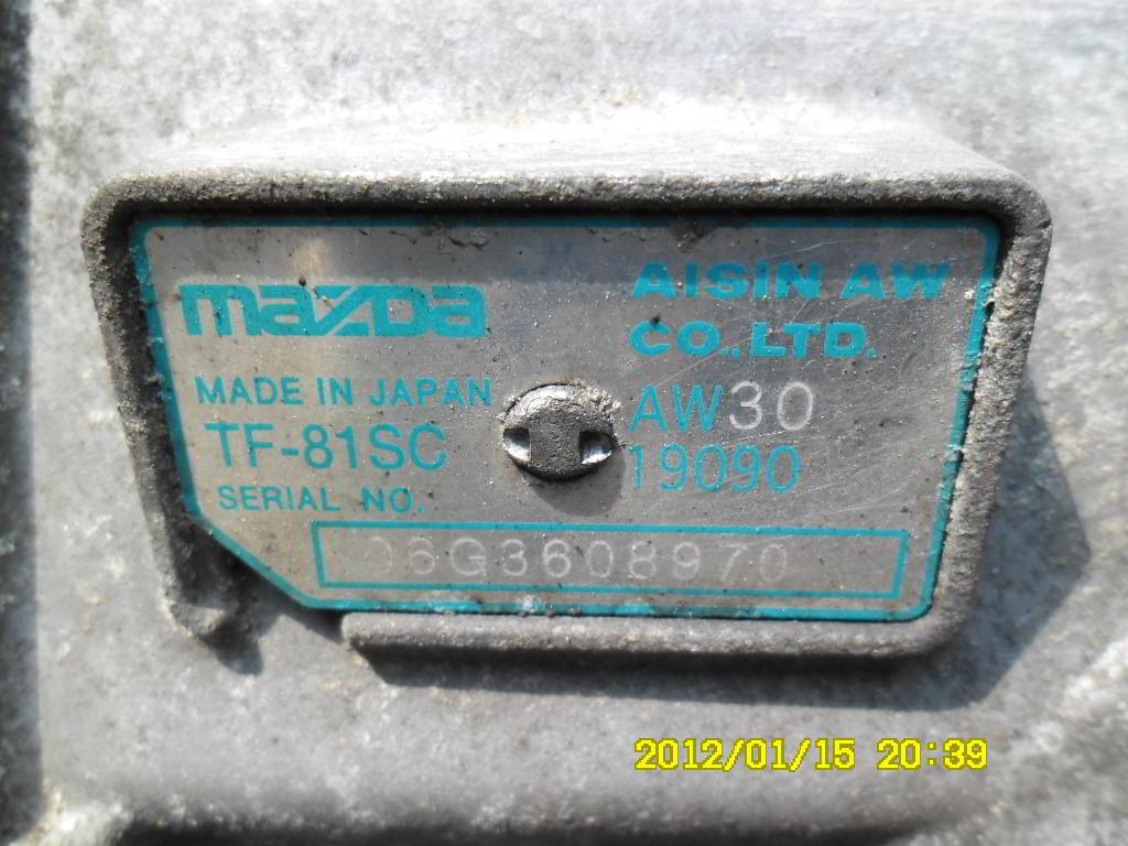 АКПП TF81SC  AW3019090 Mazda CX-7 (ER) 2006 - 2012 2.3T