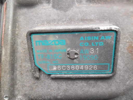 АКПП TF81SC  AW3119090 Mazda CX-7 (ER) 2006 - 2012 2.3T