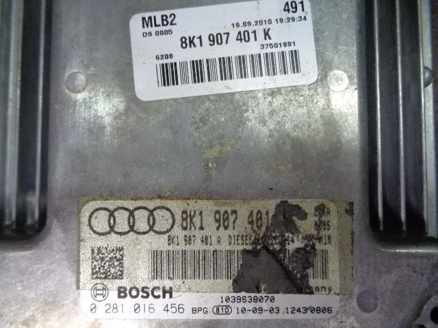 Блок управления ДВС 8K1907401K  0281016456 Audi A5 (8T) 2007 - 2017 2.7TDI