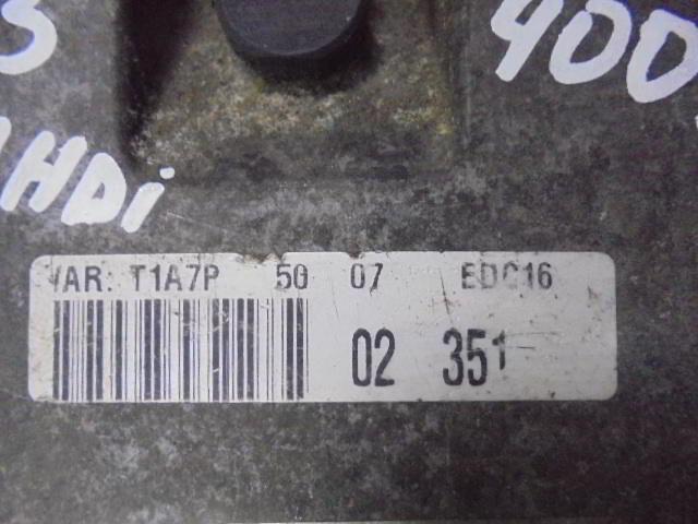 Блок управления ДВС 9646559980  0281010707 Citroen C3 I (FC) 2002 - 2009 1.4HDI
