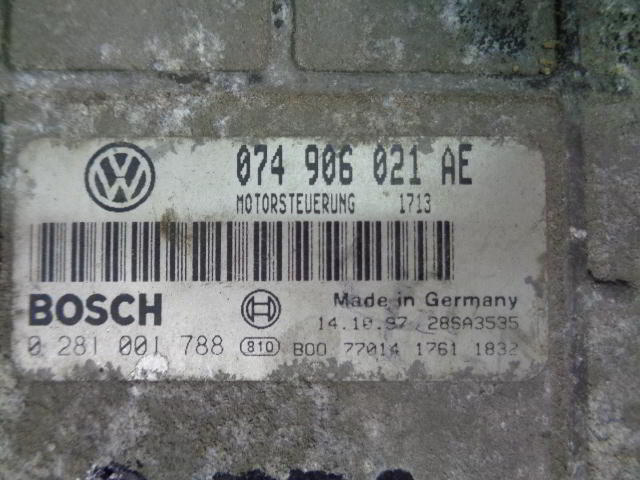 Блок управления ДВС 074906021AE   Volkswagen LT II 1996 - 2006 2.5TDI